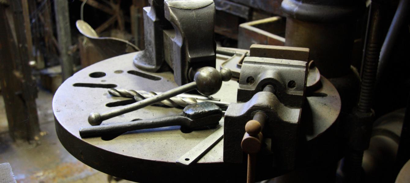 metal works table