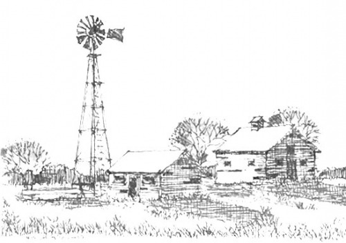 windmill sketch