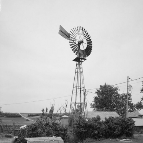 GENERAL VIEW OF ELI WINDMILL ON STEEL TOWER AT GEORGE STUCKENOLZ FARM ABOUT 6 MILES ...